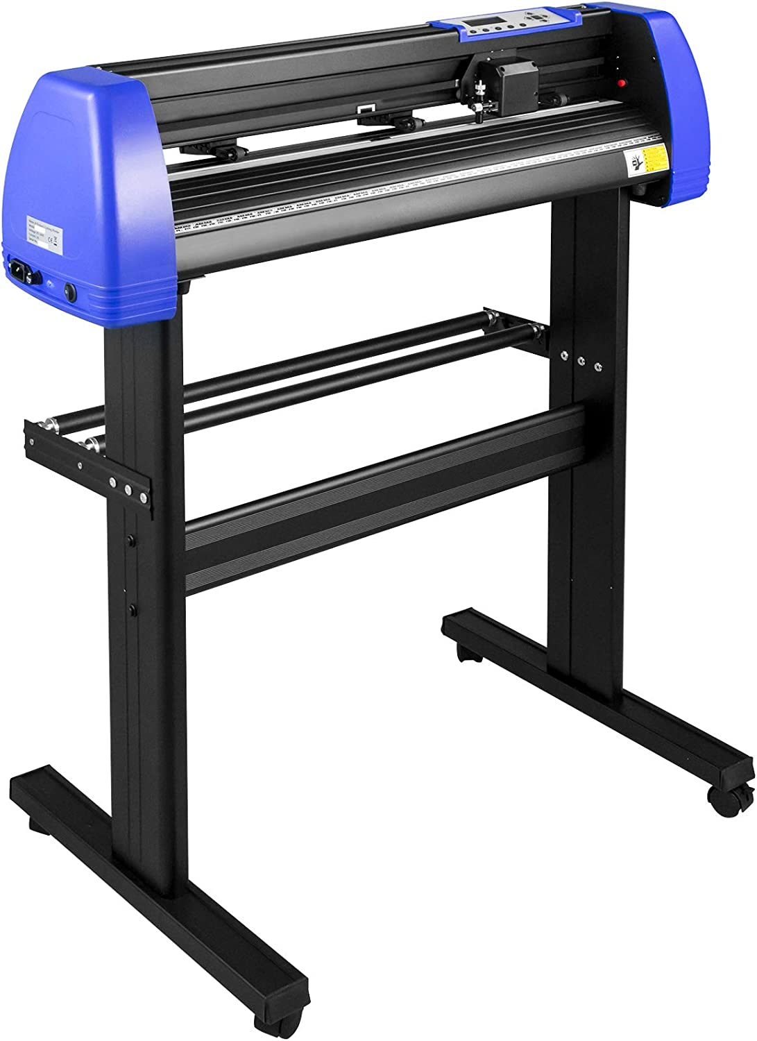 VEVOR Vinyl Cutter 34 Inch Vinyl Cutter Machine with 20 Blades Maximum Paper Feed 870mm Vinyl Plotter Cutter Machine with Sturdy Floor Stand Adjustable Force and Speed for Sign Making PC ONLY
