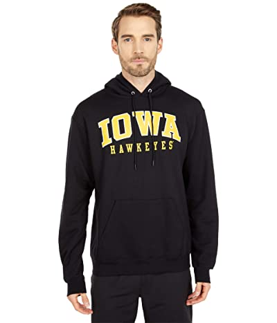 Champion College Iowa Hawkeyes Eco(r) Powerblend(r) Hoodie (Black 3) Men