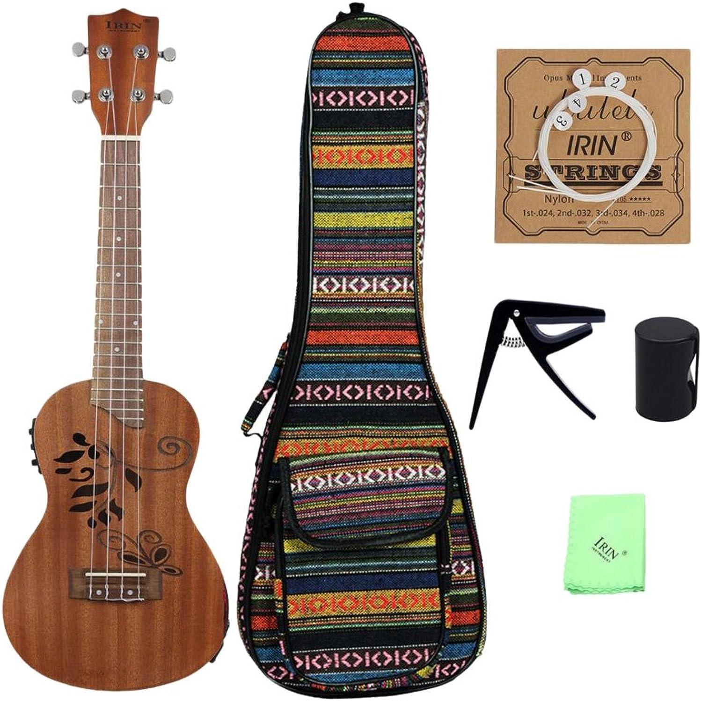 SM SunniMix EQ Akustische Elektrische Holz Ukulele Mini Hawaiian Gitarren