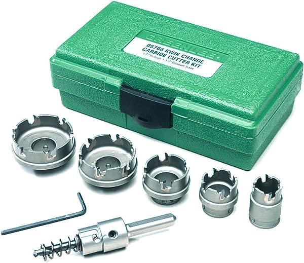 Greenlee 660 Kwik Change Stainless Steel Hole Cutter Kit 7 Piece