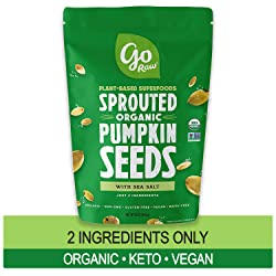 Go Raw Pumpkin Seeds with Sea Salt, Sprouted & Organic, 1 lb. Bag | Keto | Vegan | Gluten Free Snack