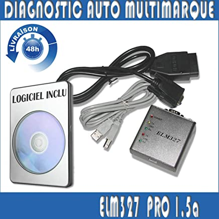 MISTER DIAGNOSTIC Interface/Maleta de diagnóstico para Coche – ELM327 OBD2 USB – Diagnóstico de Varias Marcas – Lectura borrar Errores