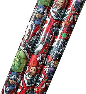 Marvel Avengers Super Hero Gift Wrap 70 Square Feet
