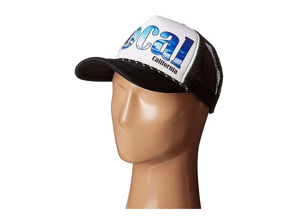 San Diego Hat Company SLW1010 Sublimated Local Trucker Cap (Black/White) Caps