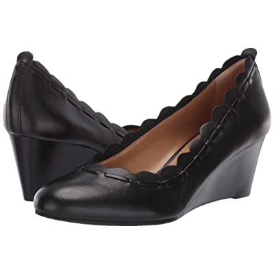 Jack Rogers Thea (Black Leather) Women