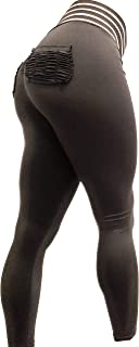 ME Accessories Women's Ruched Butt Lifting Leggings Workout Tummy Control Yoga Pants