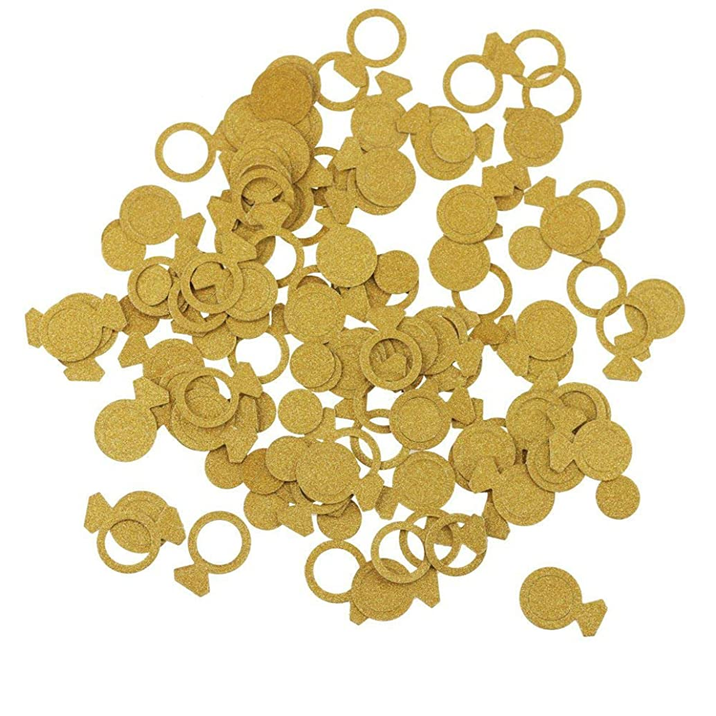 Gold Acmer Ring Confetti for Wedding party decoration,Bachelorette Party Decorations - Engagment Party Decor,Gold Glitter Paper Confetti,DIY Kits 200pcs/pack