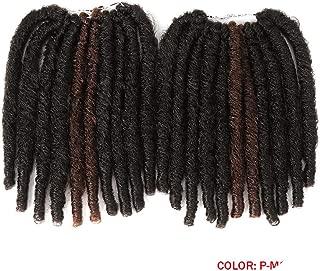 10 Inch 20strand Faux Locs Crochet Braids Hair Synthetic Braiding Soft Dread Hair Extensions High Temperature Fiber,T1B/4/27,10inches,6Pcs/Lot