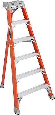 Louisville Ladder 6-Foot Fiberglass Tripod Ladder, 300-Pound Capacity, Type IA, FT1506