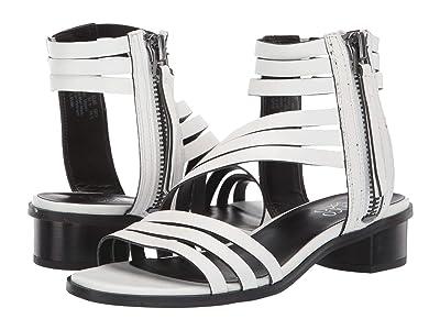 Franco Sarto Elma (White Leather) High Heels