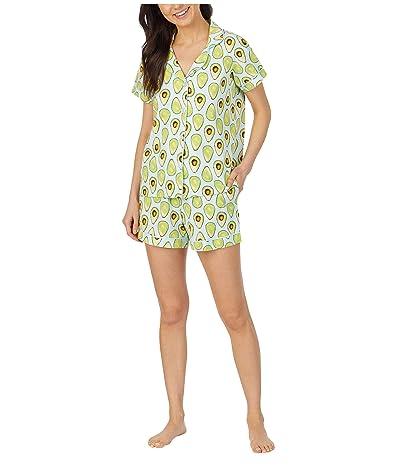 BedHead Pajamas Short Sleeve Classic Shorty Pajama Set (Avocuddle) Women