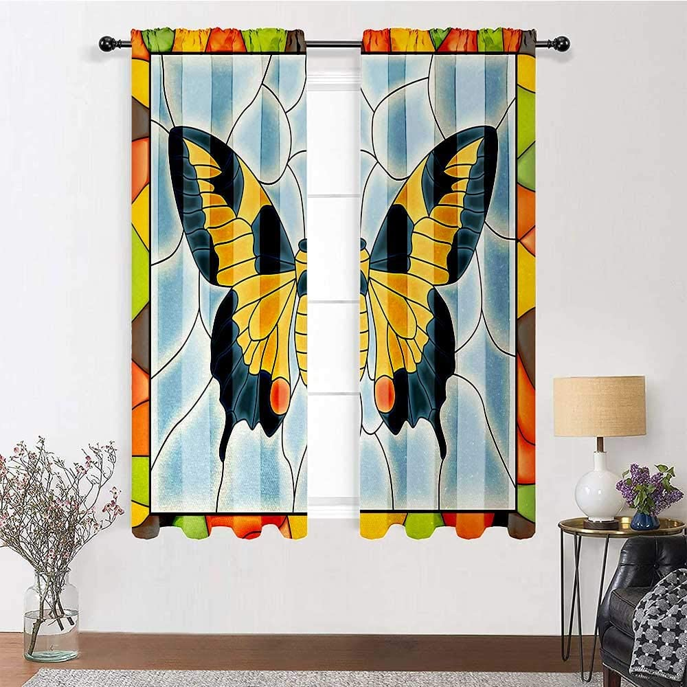 GugeABC Ranking TOP7 Living Room Curtains Sale SALE% OFF 96 Poc Butterflies Rod Length inch