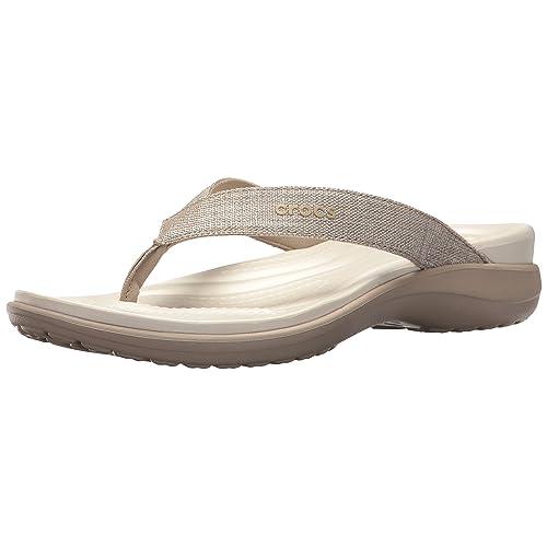 444e484e08e9db Crocs Women s Capri V Shimmer Flip Flop