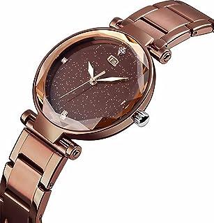 French Brand GEORGE PHILLIPE Luxury Women Watches Black Ladies Watches Diamond Analog Stainless Steel & Casual Quartz Wris...