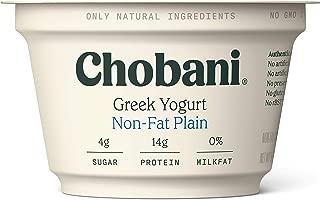 Chobani Non-Fat Greek Yogurt, Plain 5.3oz