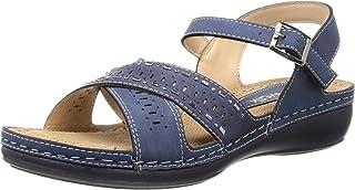 Catwalk Women's Eyelet Ankle Strap Sandals