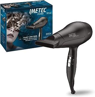 Imetec Power To Style S8 2100 - Secador de pelo de 2100W, extrarrendimiento, con boquilla orientable, función Fast Drying para un secado rápido, 3 combinaciones de aire y temperatura
