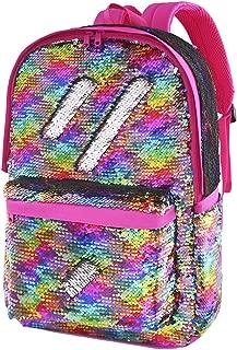 Flip Sequin School Backpack Bookbag for Girls Boys Kids Travel Daypack Cute Book Bags Back Pack