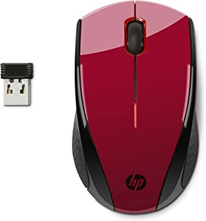 HP 2.4GHz Wireless USB Mouse X3000 (Red)