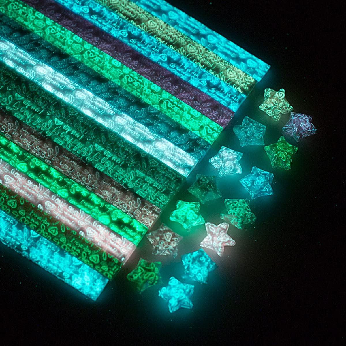 Luminous 25% OFF Origami Stars Paper 420 100% quality warranty DIY Crafts Sheets Orig Handmade
