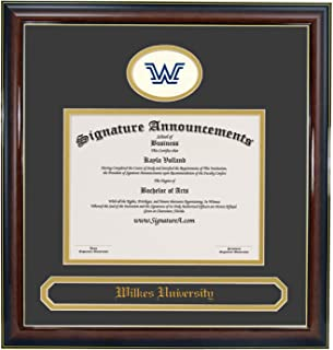 Signature Announcements Wilkes-University Undergraduate, Sculpted Foil Seal & Name Graduation Diploma Frame 20