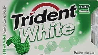 Trident White Spearmint Dual Pack 12 16-piece packs(192 pieces)