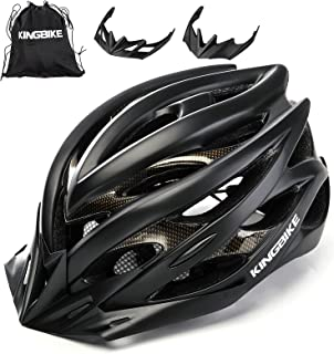 KINGBIKE Ultralight Specialized Bike Helmets CPSC&CE Certified with Rear Light + Portable Simple Backpack + Detachable Vis...
