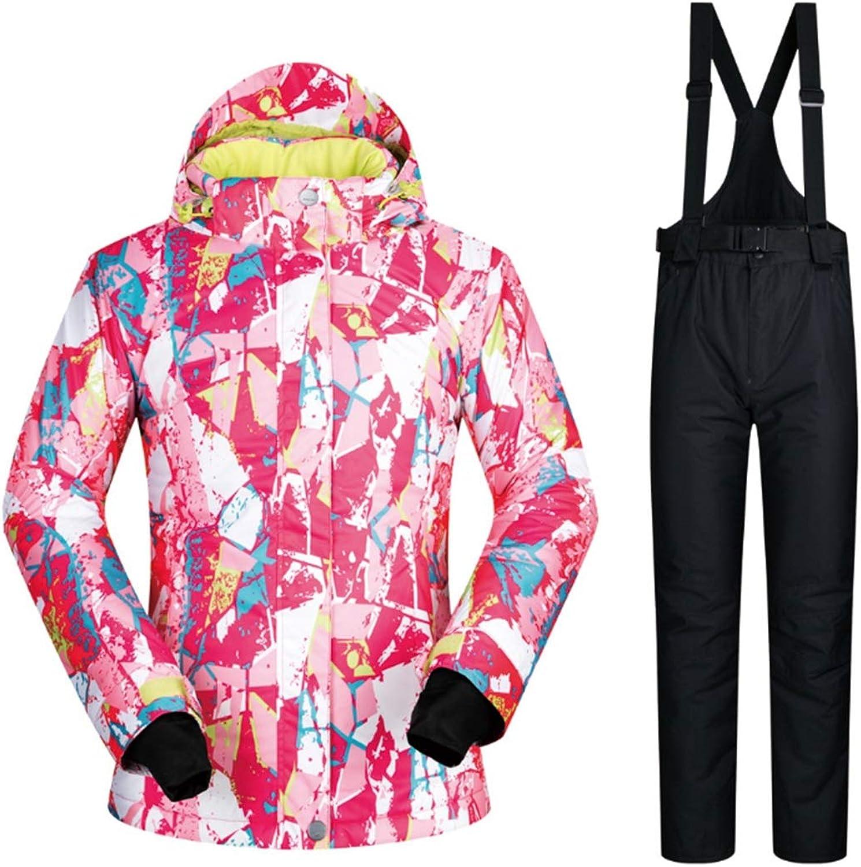 CEFULTY Women's Mountain Ski Polyester Jacket Waterproof Windproof Warm Winter Raincoat
