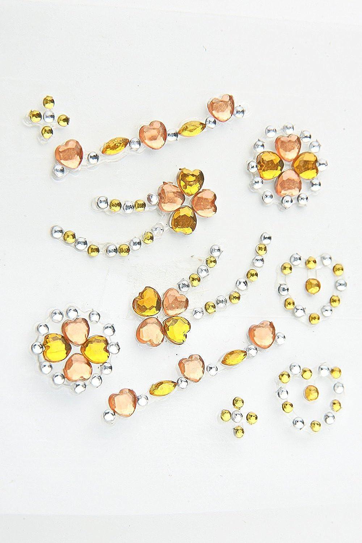 40 Packungen Hobbyfun Stony-Sticker Acryl selbstklebende Strasssticker Ornamente bernstein-Orange B00NE23XL4 | Hochwertige Materialien