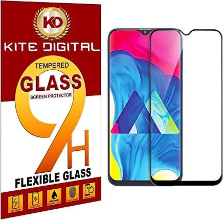 Kite Digital Compatible with SAMSUNG M10 (Black) 5D Premium Tempered Glass Screen Protector Slim 9H Hard 2.5D (Pack of 1)
