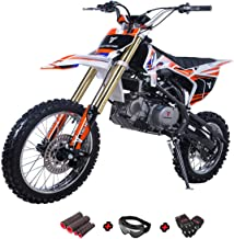 X-Pro 140cc Dirt Bike Pit Bike Kids Dirt Pitbike 140 Dirt Pit Bike with Gloves, Goggle and Handgrip (White)