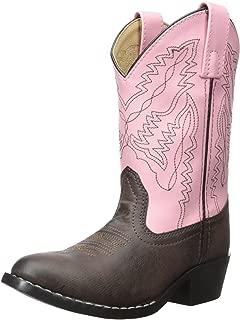 Kids' Hopalong Leather Round U Toe Boot