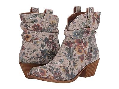 Dingo Jackpot (Off-White Floral Suede) Cowboy Boots
