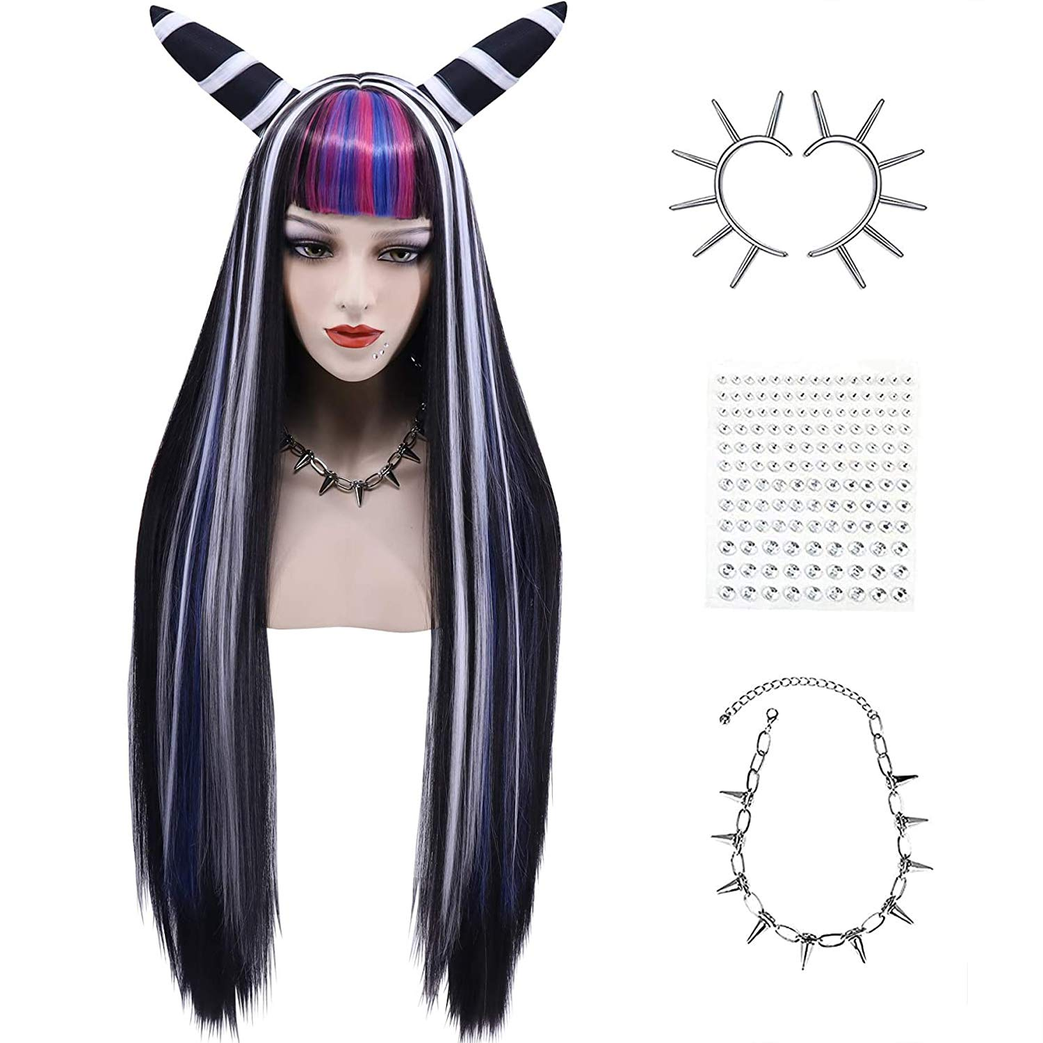Cfalaicos Thicken Horns Ibuki Mioda Today's only Se Wig Costume Max 78% OFF Whole Cosplay