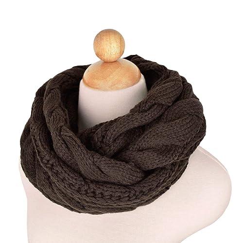 Luna et Margarita Echarpe Cercle en Tricot à Crochet Twist 8 Couleurs Foulard  Hiver pour Femme ba2077cba3c