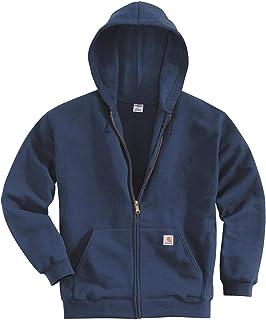 Men's Midweight Hooded Zip-front Sweatshirt,New Navy,Large