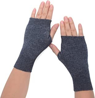 Flammi Women's Cozy Wool Knit Half Fingerless Gloves Mittens Warm Thumb Hole Gloves
