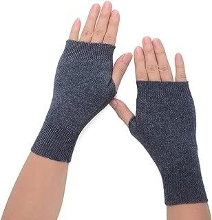 Flammi Women's Cozy Wool Knit Half Fingerless Gloves Mittens Warm Thumb Hole Gloves