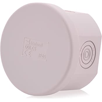 Cajas de empalme de cable de 6 polos | IP65 | 65x40mm | caja de distribución, de superficie impermeable para exteriores: Amazon.es: Bricolaje y herramientas