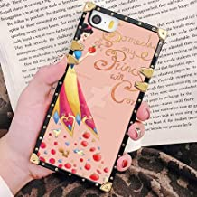 DISNEY COLLECTION iPhone 5/5S/SE Case Disney one Day My Prince Will Come to Disney Square Phone Case Cover Soft TPU 360 Degree Luxury Shockproof Protectiv