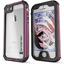 iPhone SE Waterproof Case, Ghostek Atomic 3 Series for Apple iPhone 5, 5S & SE | Underwater | Shockproof | Dirt-Proof | Snow-Proof | Aluminum Frame | Adventure Ready | Ultra Fit | Swimming (Pink)