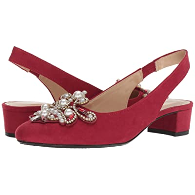 J. Renee Delroy (Red Suede/White Pearls) Women