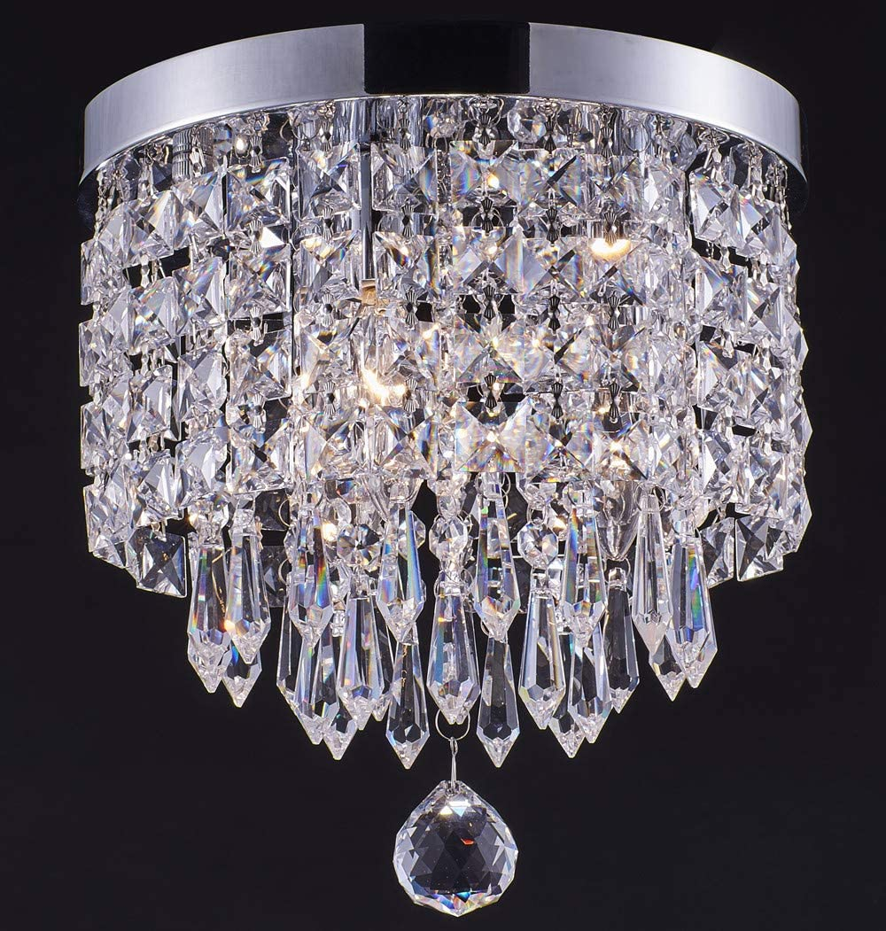 Smart Lighting-Shupregu 3-Light Year-end gift New color Modern Chandelier Flush Crystal