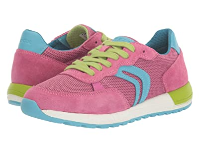 Geox Kids Alben 5 (Big Kid) (Light Blue/Fuchsia) Girl