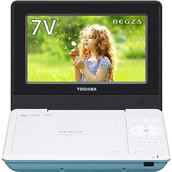 東芝 7型ポータブルDVDプレーヤーグリーンCPRM対応TOSHIBA REGZA レグザポータブルプレーヤー SD-P710SG