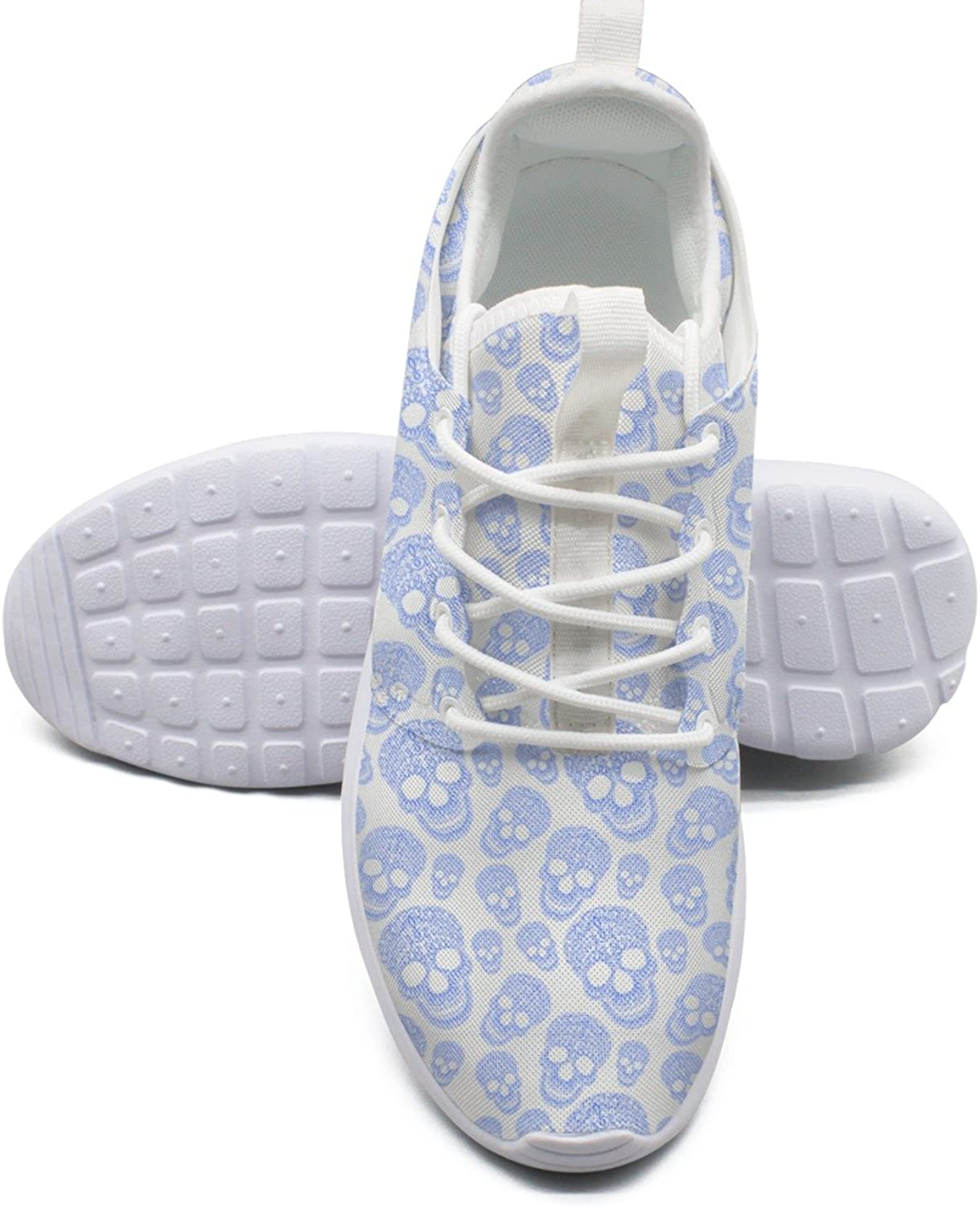 Floral Skulls Women's Fashion Basketball shoes Cute Mesh Lightweight Sneakers
