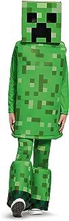 Creeper Prestige Minecraft Costume, Green, Small (4-6)