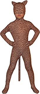 Child Open Eyes Open Nose and Mouth Lycra Leopard Animal Zentai
