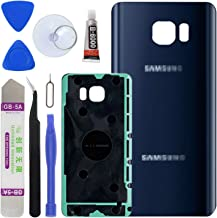 LUVSS New Back Glass Replacement for [Samsung Galaxy Note 5] N920 (All Carriers) Rear Cover Glass Panel Case Door Housing with Opening Tools Kit (Blue)