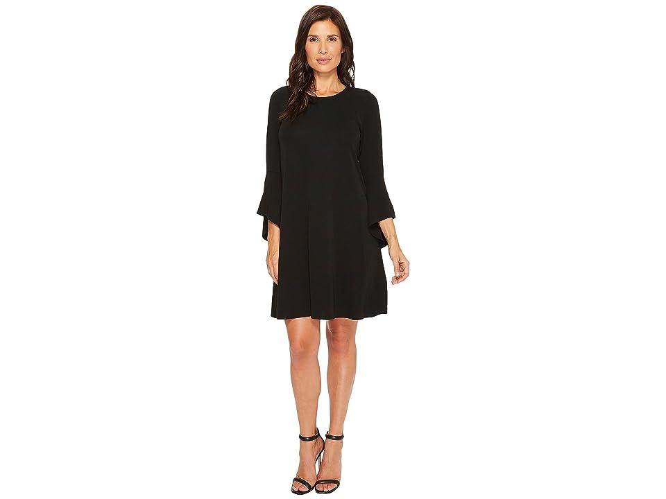 Karen Kane Bell Sleeve Swing Dress (Black) Women